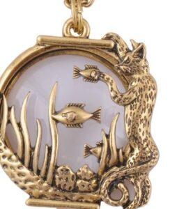 Antiik kullaga kaetud kaelaehe luup 12€