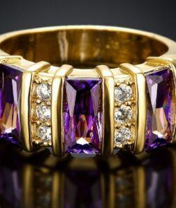 Ausria kristalliga 18 kullatud naiste sõrmus