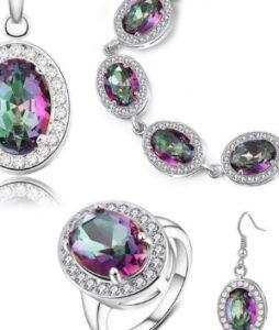 Austria kristallidest hõbettatud plaadil 4 0sa sõrmus nr9