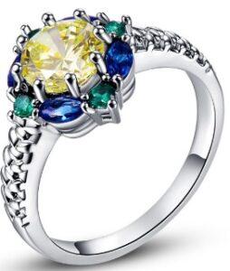Erinevat tooni ametüst sõrmus hõbedast 925 nr.8 ja 10 39€