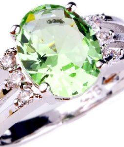 Heleroheline ametüst sõrmus 925 hõbedast nr.9