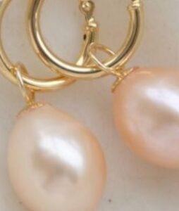 Roosa magevee pärl 8-9 mm 18 K