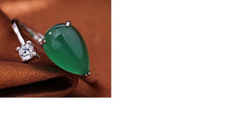 e75e98032b9 Ehtekivi | 925 hõbedast Jaadist sõrmus valge Tsirkooniga nr.6-6,5